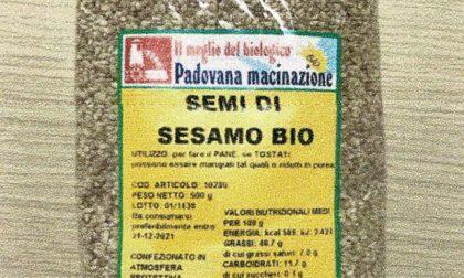 Richiamo alimentare: ossido di etilene (cancerogeno) nei semi di sesamo bio