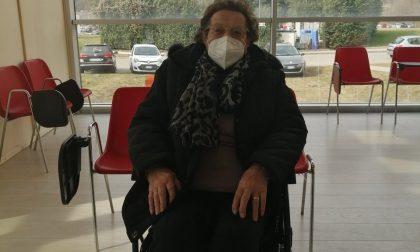 Giacomina Togni, 102 anni, e il vaccino contro il Covid