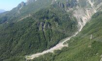 Concarena, la minaccia della montagna che precipita a valle